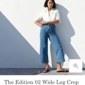 Everlane high waist wide leg denim